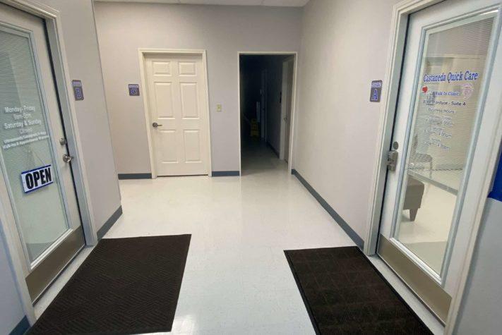 walk in pediatrician doctor's office foyer