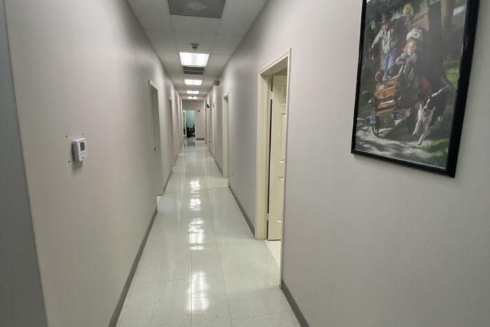 walk in pediatrician doctor's office hallway