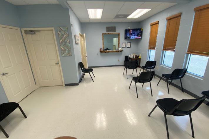 walk in pediatrician doctor's office lobby